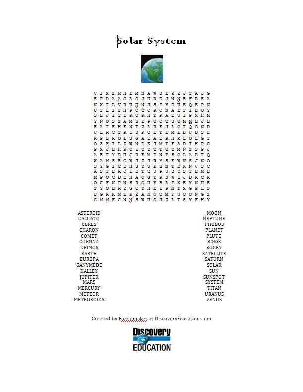 solar system crossword answers - photo #5