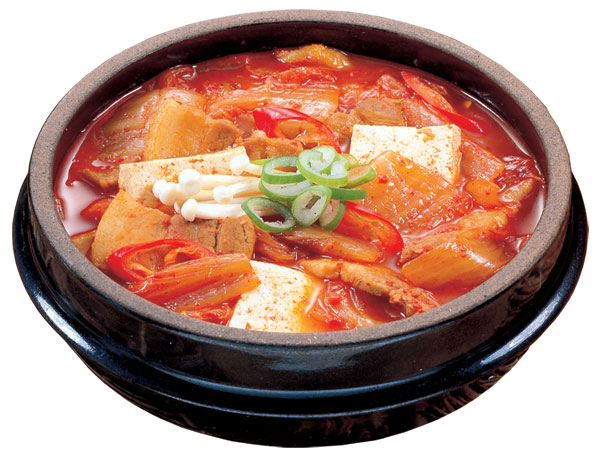 kimchi jjigae is a popular stew made with kimchi pork tofu and spices ...