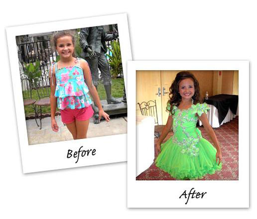 Photo Slideshow: Before & After Pageant Photos: Toddlers & Tiaras: TLC