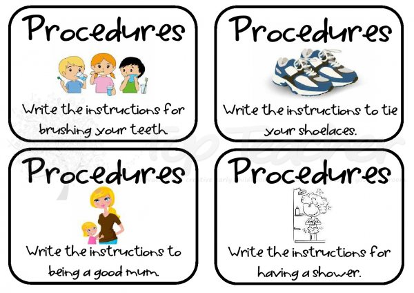 writing procedural essay Use this lesson plan to teach your students what procedural writing is, give examples, explain when and how procedural writing is used, then give.